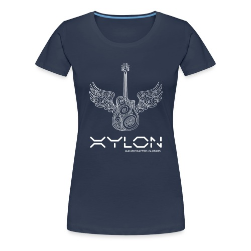 Xylon Guitars Premium T-shirt (white design) - Women's Premium T-Shirt