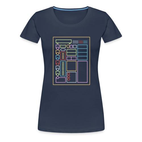 Dnd-merkistötaulukko - Naisten premium t-paita