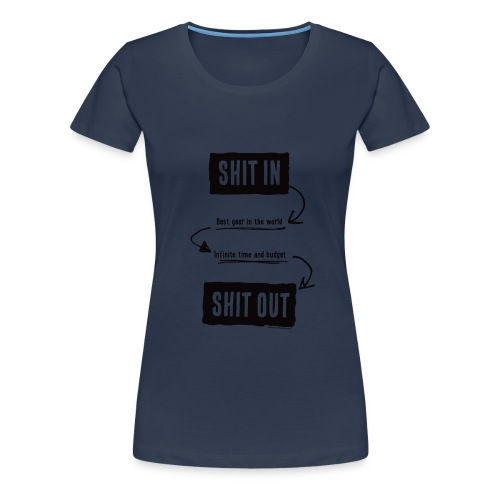 shitinshitoutblack - T-shirt Premium Femme