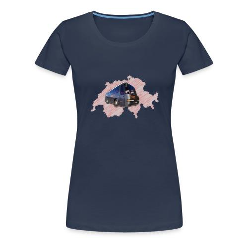 Schweiz mit HPTrans - Frauen Premium T-Shirt