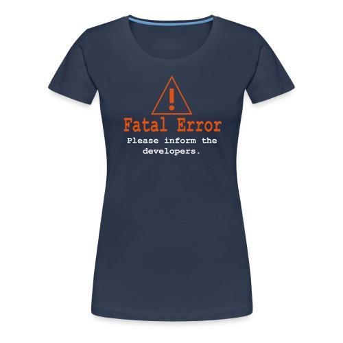 Computer Fehlermeldung - Frauen Premium T-Shirt