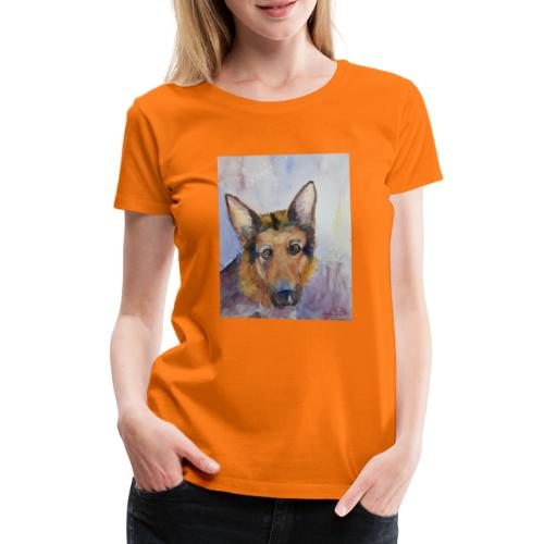 german shepherd wc - Dame premium T-shirt