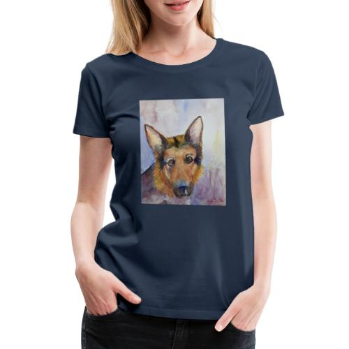 german shepherd wc - Dame premium T-shirt