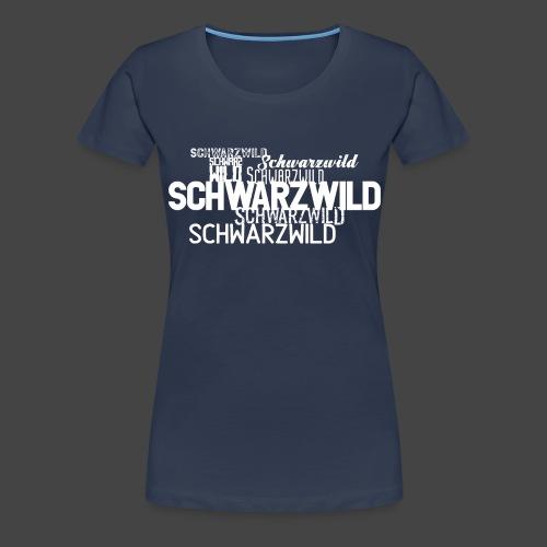 schwarzwildrotte - Frauen Premium T-Shirt