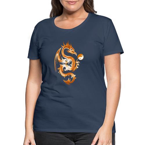 Der Drache spielt mit der Energie des Lebens. - Frauen Premium T-Shirt