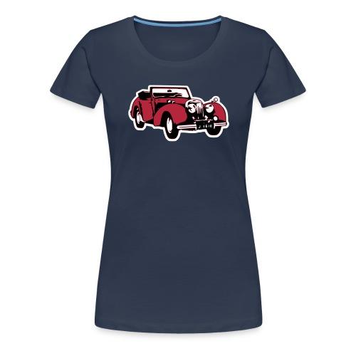 Triumph Roadster Oldtimer (mit HG) - Frauen Premium T-Shirt