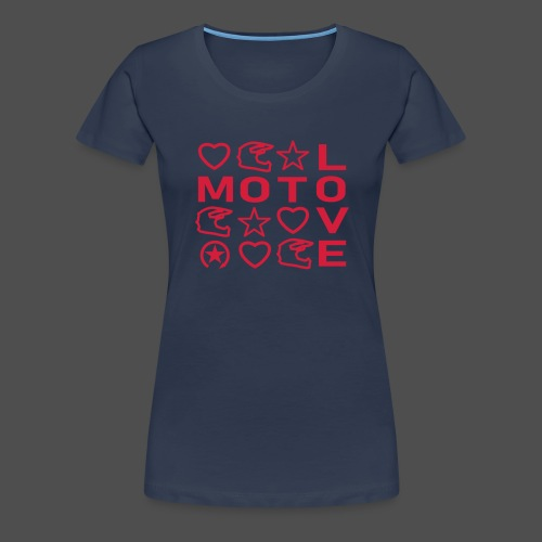 MOTO LOVE - Koszulka damska Premium