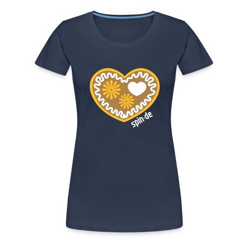 spinde 14 spindegift lebkuchenherz - Frauen Premium T-Shirt