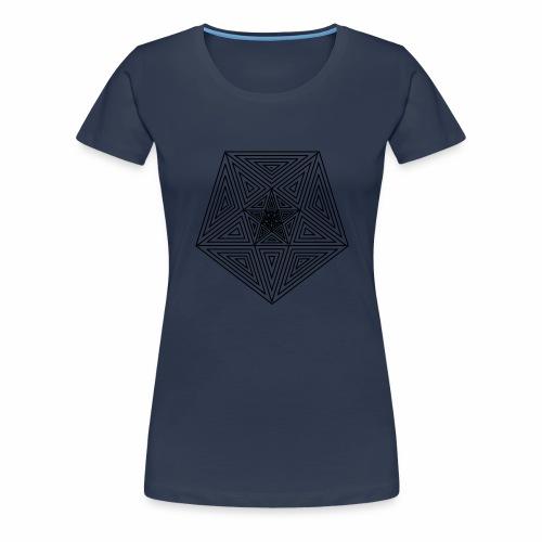 Pentagramm einfach - Frauen Premium T-Shirt