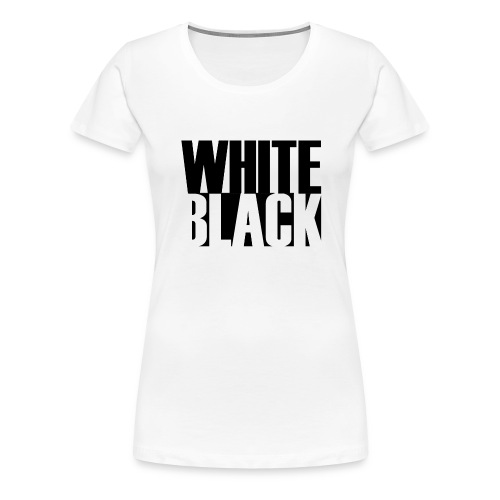 White, Black T-shirt - Vrouwen Premium T-shirt
