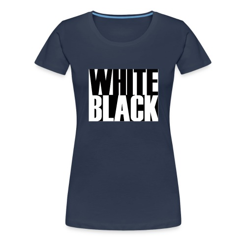 White, Black T-shirt - Vrouwen Premium T-shirt