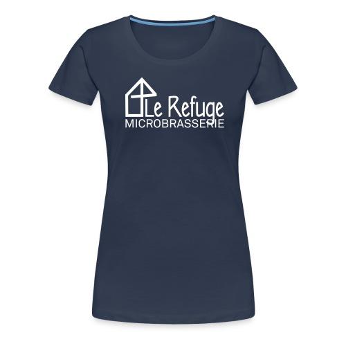 LOGO LE REFUGE microbrasserie - T-shirt Premium Femme
