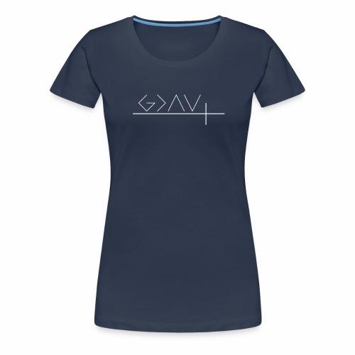 god is greater weiß - Frauen Premium T-Shirt