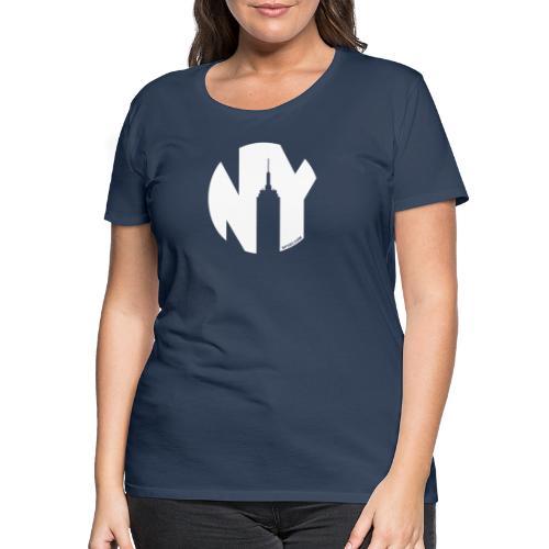 Logo French Yorker blanc - T-shirt Premium Femme