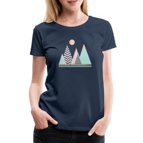 Pastel mountains - Women's Premium T-Shirt
