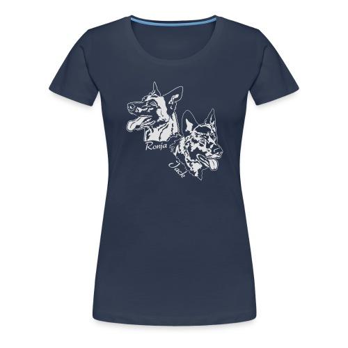 ronja und jack 13 weiss - Frauen Premium T-Shirt