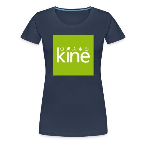 kine Logo nur für Button mit Hintergrund - Frauen Premium T-Shirt