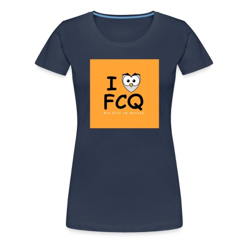 I Love FCQ button orange - Frauen Premium T-Shirt
