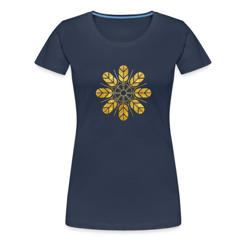 Inoue clan kamon in gold - Women's Premium T-Shirt