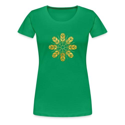 Inoue clan kamon in gold - Women's Premium T-Shirt