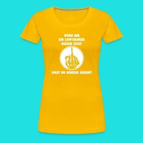 LKW-Fahrer - Frauen Premium T-Shirt