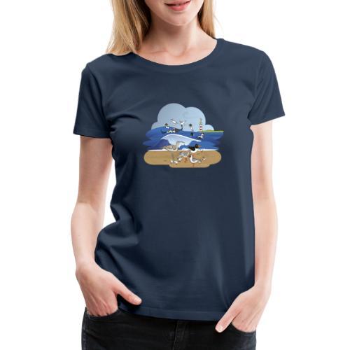 See... birds on the shore - Women's Premium T-Shirt