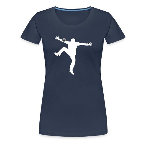 Silhouette Gardien Handball - T-shirt Premium Femme