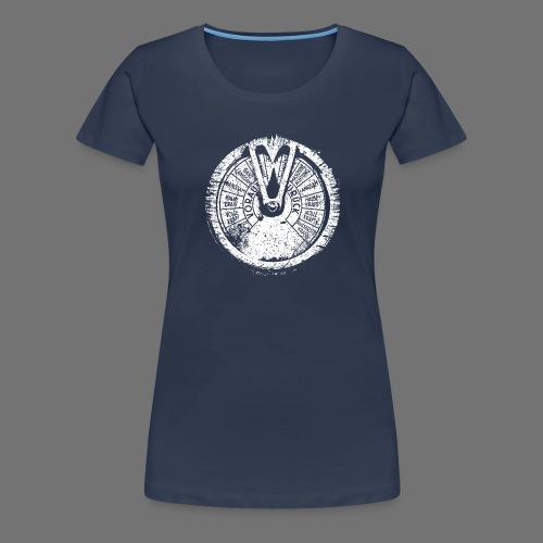 Maschinentelegraph (white oldstyle) - Frauen Premium T-Shirt