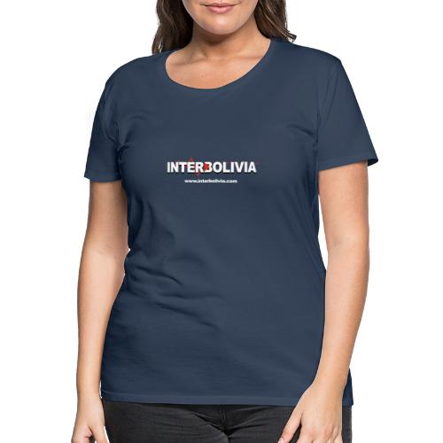 logo blanco interbolivia tshirt - Camiseta premium mujer
