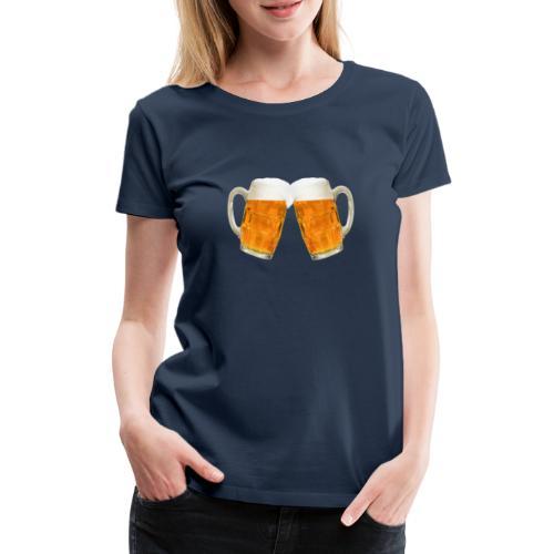 Zwei Bier - Frauen Premium T-Shirt