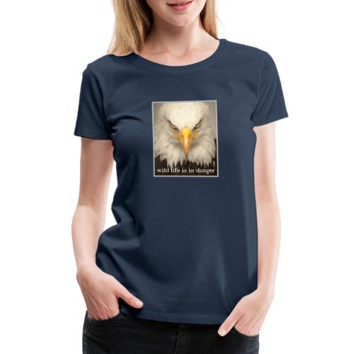 wild life is in danger shirt - Frauen Premium T-Shirt