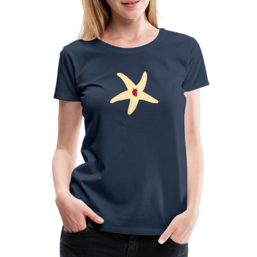 Seestern mit Herz - Frauen Premium T-Shirt