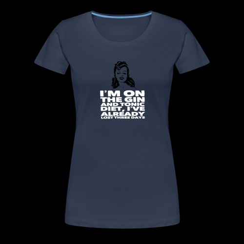 Vintage lady funny quote - Women's Premium T-Shirt
