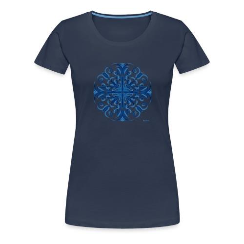 Classic Blue Modo Mandala - Camiseta premium mujer