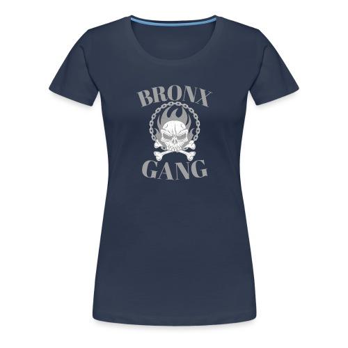 bronx gang flamme tête de mort - T-shirt Premium Femme