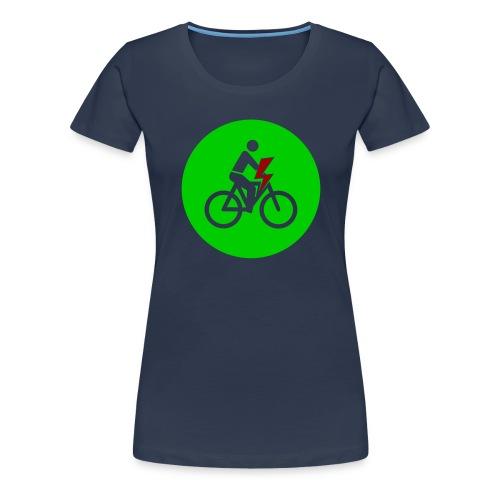 e bike grün Schild Logo Emblem - Farben änderbar - Frauen Premium T-Shirt