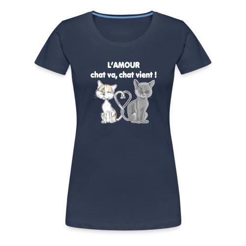 l'amour des chats - T-shirt Premium Femme