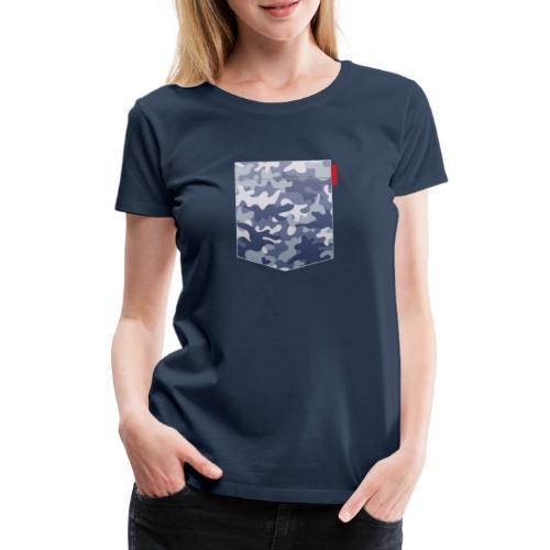 Blue Camo Pocket Patch - Women's Premium T-Shirt