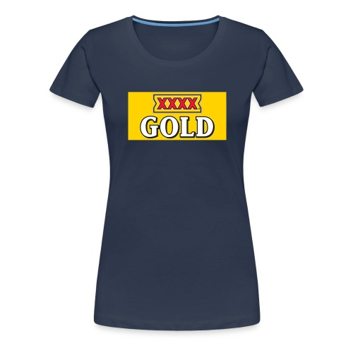 Gold Stubby Logo Beer - Women's Premium T-Shirt