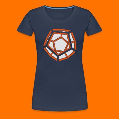 Dodekaeder 3D - Frauen Premium T-Shirt