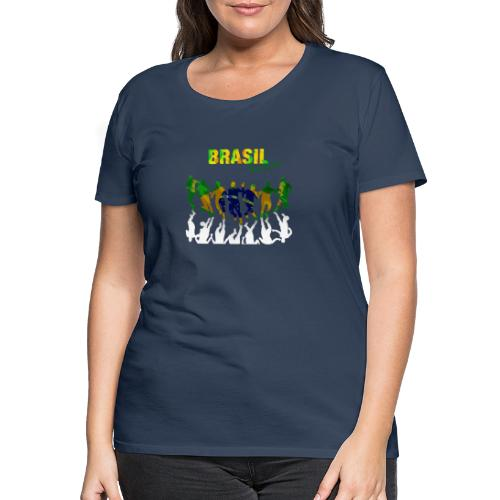 Brasil Soccer - Women's Premium T-Shirt