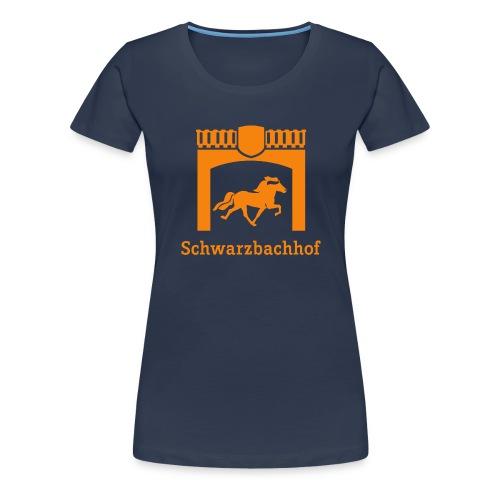 Logo Schwarzbachhof Orange - Frauen Premium T-Shirt