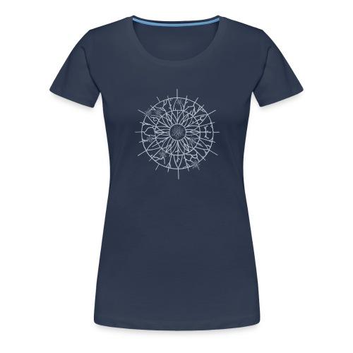 Edelweiss Wheel T-Shirt Marine - T-shirt Premium Femme