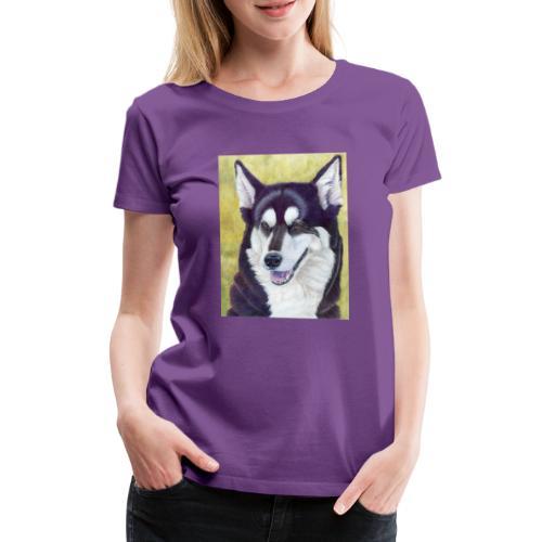 Siberian husky - Dame premium T-shirt