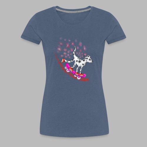 Spotty Skateboarder - Women's Premium T-Shirt