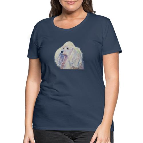 poodle standard white - Dame premium T-shirt