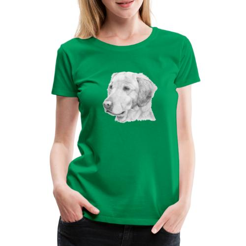 Golden retriever 2 - Dame premium T-shirt