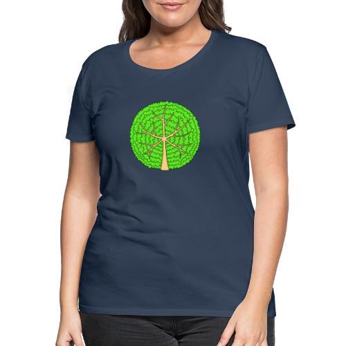 Baum, rund, hellgrün - Frauen Premium T-Shirt