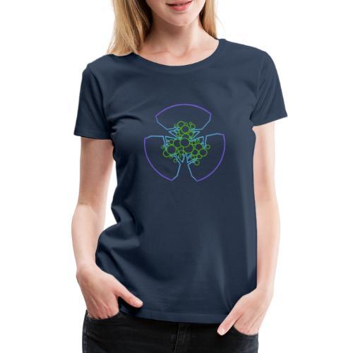 Drei Bäume, blau-grün - Frauen Premium T-Shirt