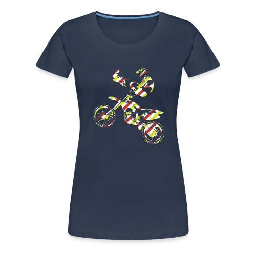 FMX Freestyle Motocross Shaolin - Frauen Premium T-Shirt